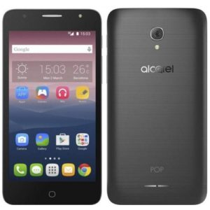 alcatel pop fornt and back view