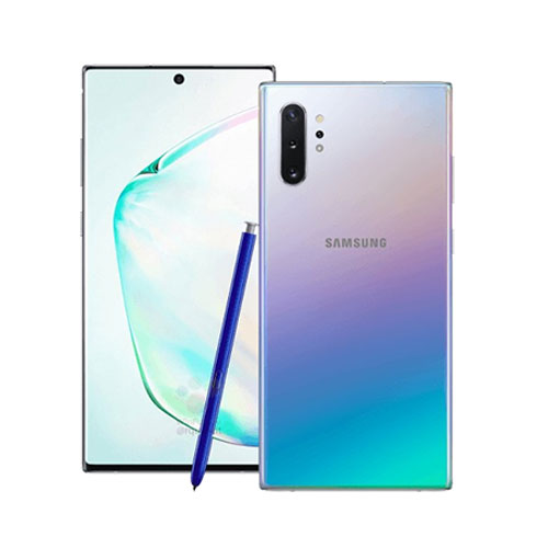 Samsung Galaxy Note 10+ 256GB aura glow front and back view