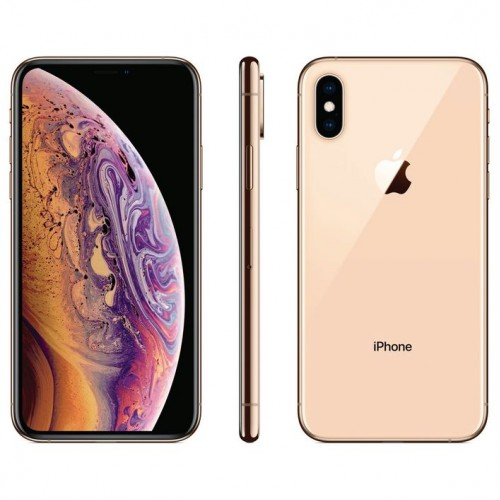 Apple iPhone XS Gold front and back view
