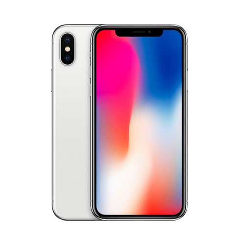 Apple iPhone X Silver front and back view