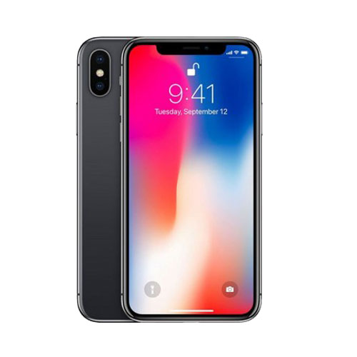 Apple iPhone X Space Grey front and back view