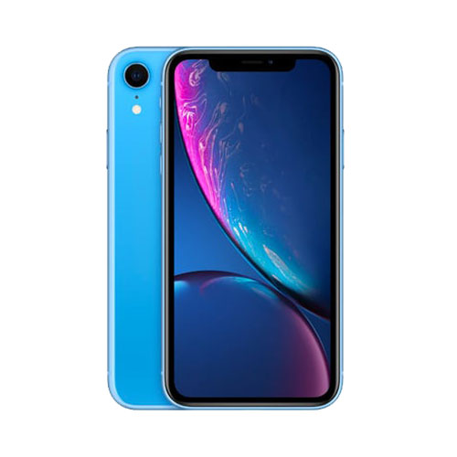 Apple iPhone XR 128GB Blue front and back view