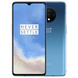onePlus 7T 128GB blue front back view