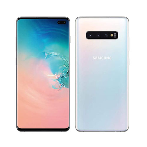 Refurbished Samsung Galaxy s10 Plus white front back view