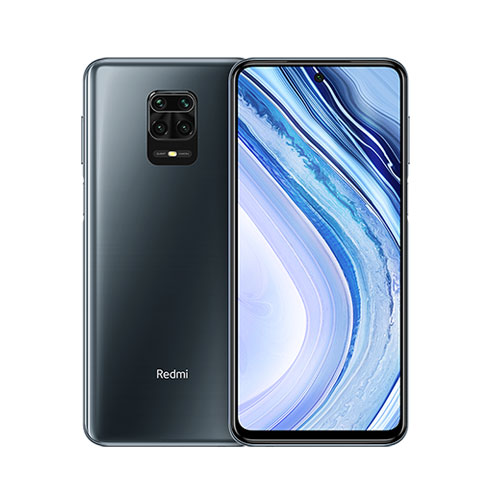 Redmi Note 9 Pro 128GB Interstellar Grey front and back view