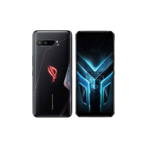 Asus ROG Phone 3 12GB RAM black glare front and back view