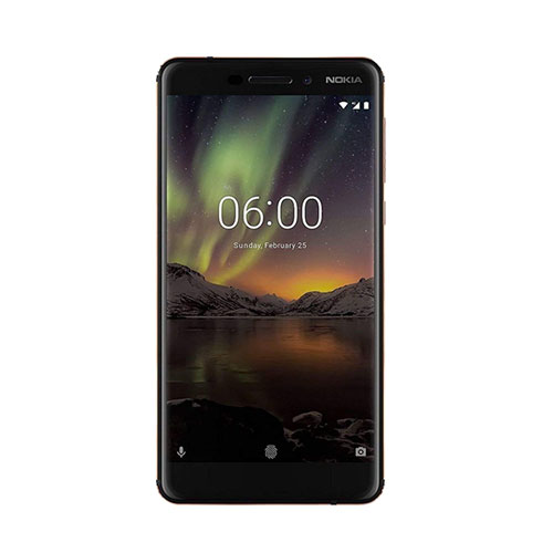 Nokia 6.1 32GB 3GB RAM back/copper front view