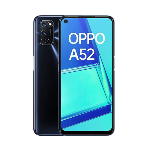 Oppo A52 64GB Twilight Black back and front view