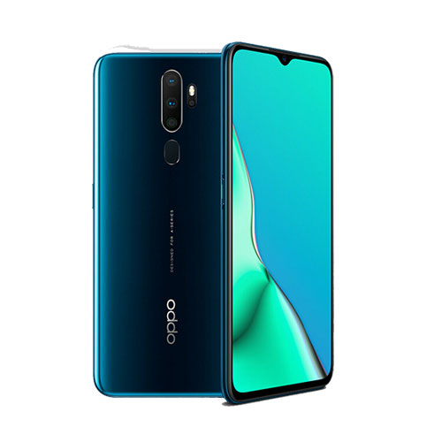 oppo a9 2020 128gb marine green front back view