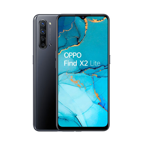 Oppo Find X2 Lite 5G 128GB Moonlight Black front back view