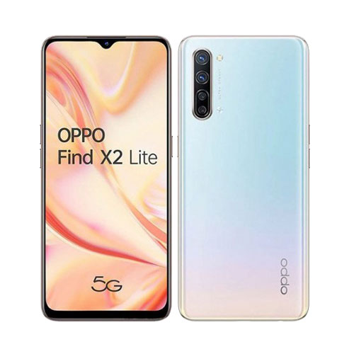 Oppo Find X2 Lite 5G 128GB Pearl White front back view