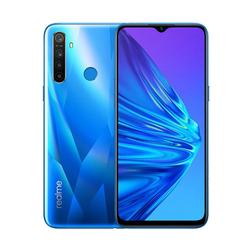 Realme 5 128GB crystal Blue front back view
