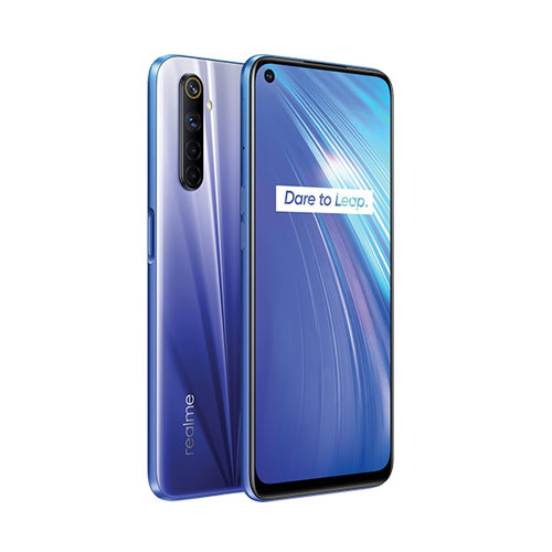realme 6 dual sim 128gb blue front back view