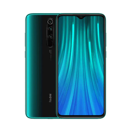 Redmi Note 8 Pro 128gb forest green front back view