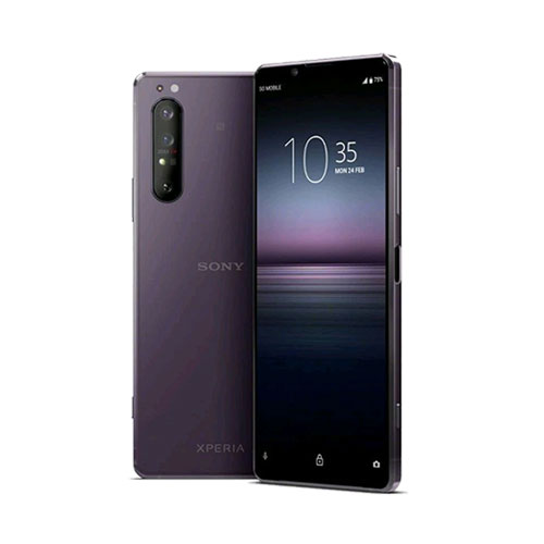Sony Xperia 1 II 256GB purple front back view
