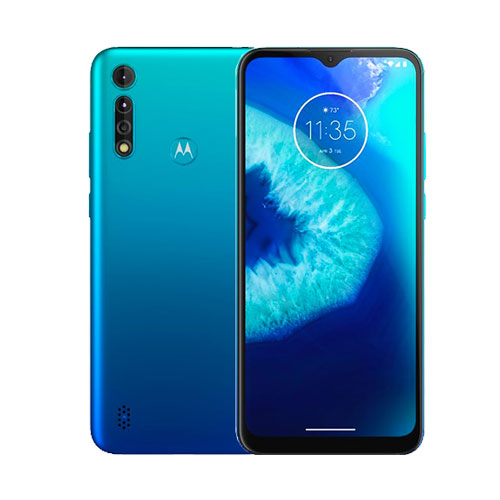 Motorola Moto G8 Power Lite 64GB arctic blue front and back view