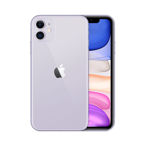 Apple iPhone 11 Physical Dual Sim Purple front back view